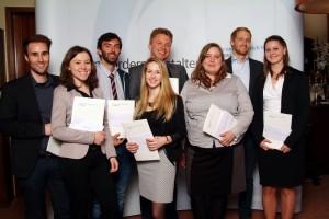 Die Vorwerk-Preisgewinner der Master-Abschlüsse (Foto: Roman Jupitz)