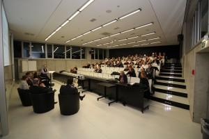 Über 75 interessierte und mitdiskutierende Zuhörer aus den Reihen der HCU sowie vom Förderverein waterfront